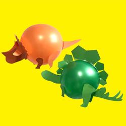 dino balloon craft