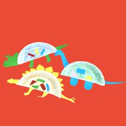 Dino paper plate craft