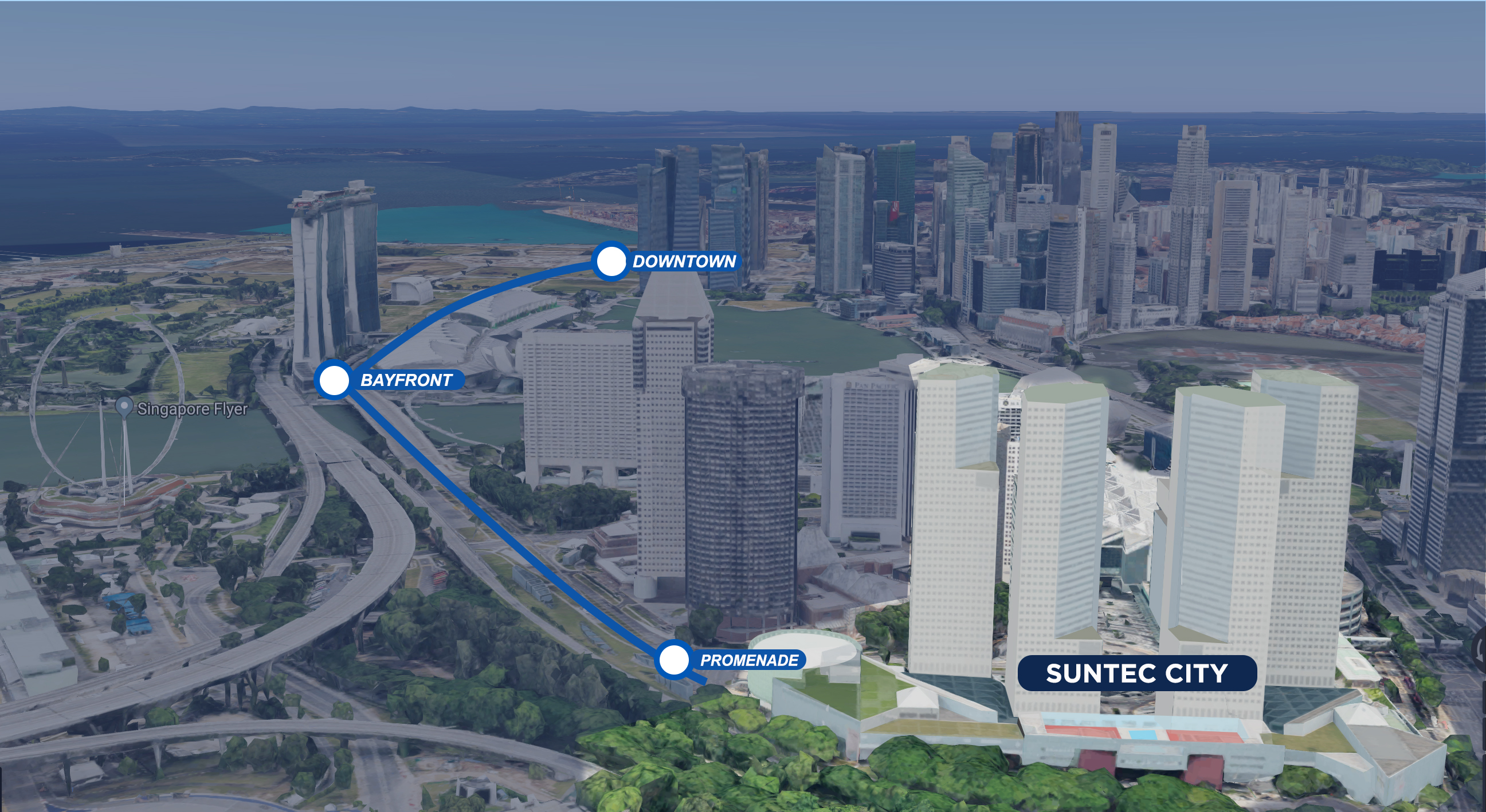 biggest mall in the Marina Bay vicinity Suntec City
